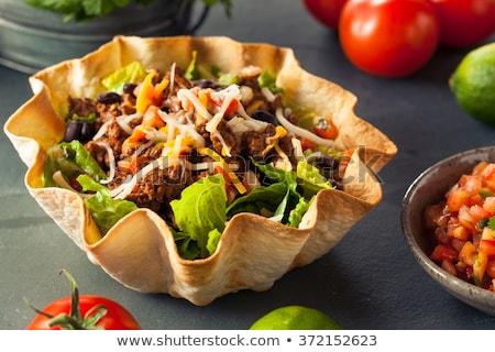 牛肉 タコス サラダ トマト メキシコ料理 食事 ストックフォト © M-studio