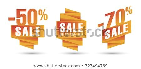 conjunto · laranja · desconto · venda · etiqueta - foto stock © liliwhite
