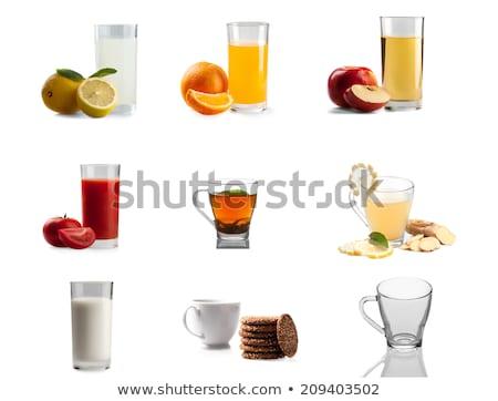 トマトジュース ガラス クッキー 孤立した 白 ジュース ストックフォト © inxti