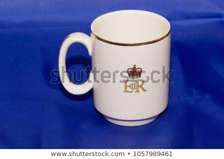 Srebrny królowej brytyjski używany znaczek pocztowy Zdjęcia stock © samsem