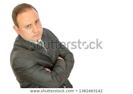 Popa empresario los brazos cruzados traje masculina inteligentes Foto stock © wavebreak_media
