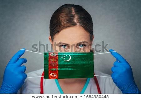 Turkmenia asia mapy dodatkowo zestaw Zdjęcia stock © Vectorminator