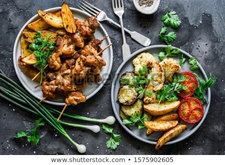 réz · tányér · hagyományos · autentikus · néz · hús - stock fotó © ozgur