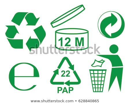 3D · pequeno · pessoas · reciclagem · símbolo · imagem - foto stock © 4designersart