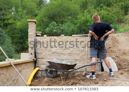 Handlowiec płacz na zewnątrz ból człowiek budowy Zdjęcia stock © photography33