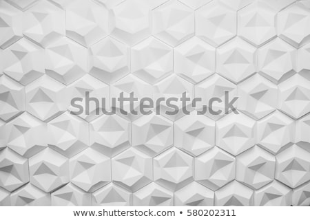 Hexagon Bubbles abstract background on white  stock photo © jaggat_rashidi
