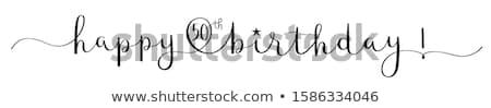 Happy Birthday - 50th Stock photo © cteconsulting