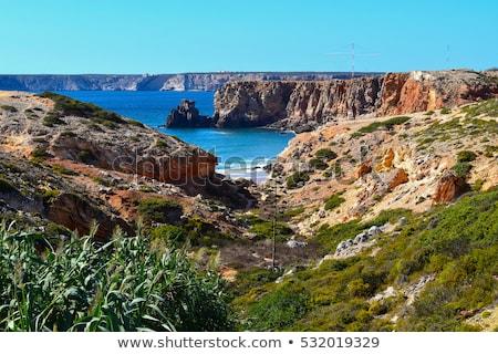 ポルトガル 崖 行 ストックフォト © jeayesy