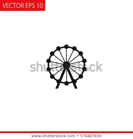 Icon ferris wheel Stock photo © zzve