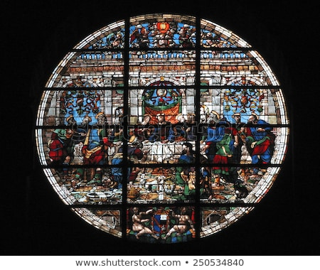 the last supper stained glass window stock photo © snapshot