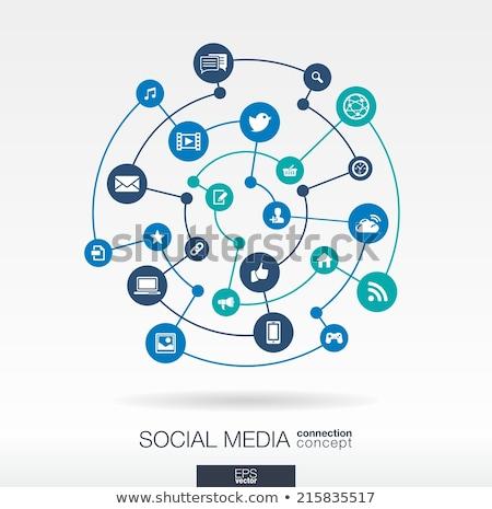 social media structure stock photo © matteobragaglio