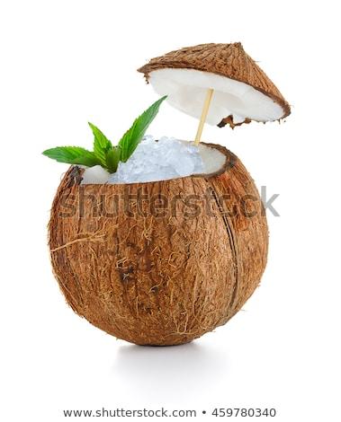 кокосового · коктейль · слово · облако · фрукты · стекла · пустыне - Сток-фото © Refugeek