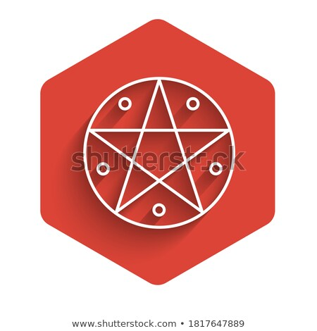 Red Pentacle button Stock photo © shawlinmohd