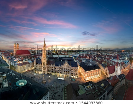 ミュンヘン パノラマ 建物 教会 アーキテクチャ 屋根 ストックフォト © manfredxy