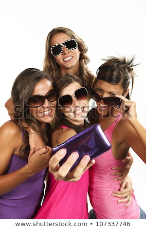 Fashion picture of four attractive female models Stock photo © konradbak