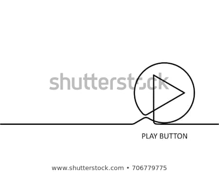 hand pushing play button isolated stock photo © tungphoto