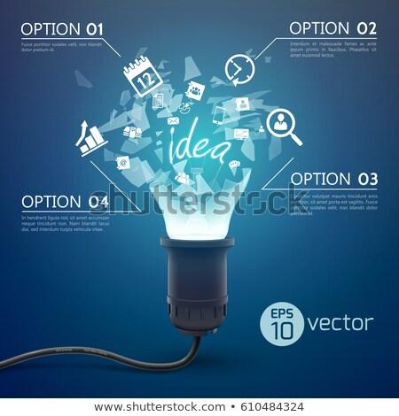 Explosivo idéia lâmpada ilustração projeto grama Foto stock © alexmillos