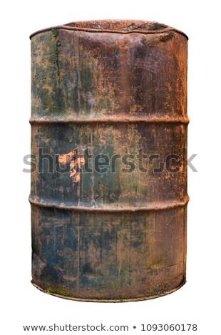Baryłkę oleju wybuchowy tle metal podpisania Zdjęcia stock © alexmillos