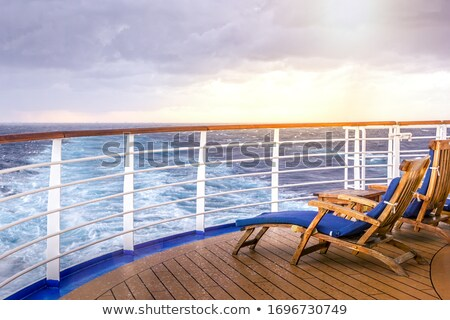 Wooden chair on the deck of cruise liner Stock photo © d13