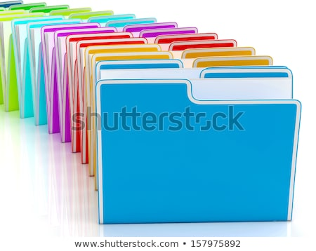 Stockfoto: Folders Showing Organising Documents Filing And Reports