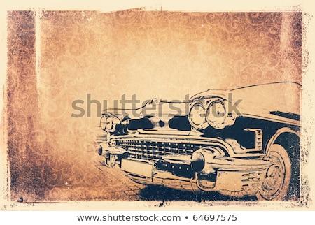 Marrón ilustración muscle car vector formato Foto stock © Slobelix