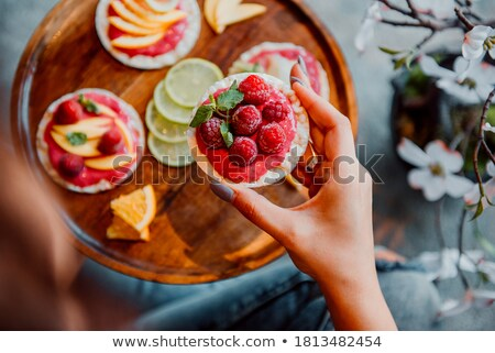 stack of crackers with mint stock photo © karandaev