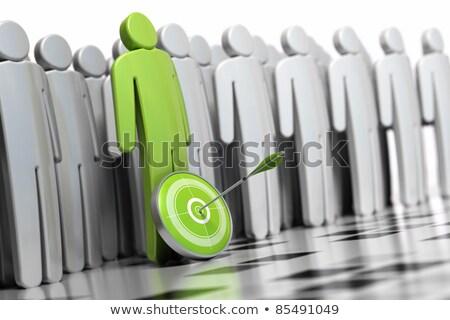 Headhunting Concept on Green Target. Stock photo © tashatuvango
