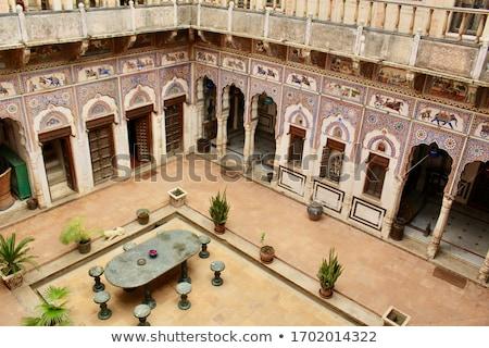 tipikus · kereskedő · ház · épület · ázsiai · indiai - stock fotó © faabi