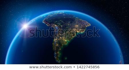 ночь Южной Америке City Lights пространстве Элементы изображение Сток-фото © Harlekino