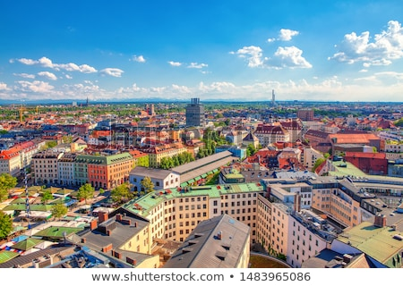 Aerial view of Munich Stock photo © faabi