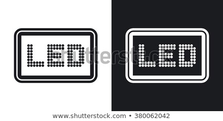 led lamp dark icons stock photo © yuriy