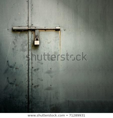 черный блокировка металл забор Сток-фото © jaycriss