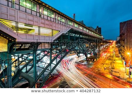 Metra jednostka pozostawia stacja działalności miasta Zdjęcia stock © alex_grichenko