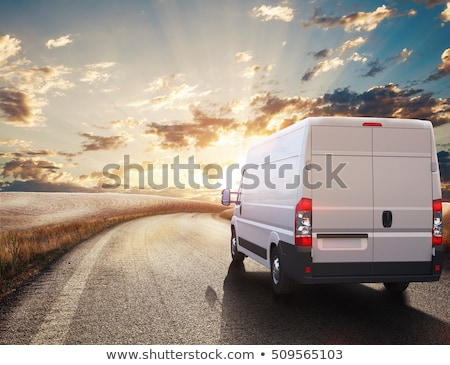 Delivery courier in van on the way Stock photo © CandyboxPhoto