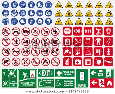 waarschuwing · borden · ingesteld · computer · brand · oorlog - stockfoto © anbuch