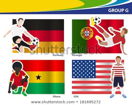 Бразилия 2014 группа Футбол флагами Сток-фото © stevanovicigor