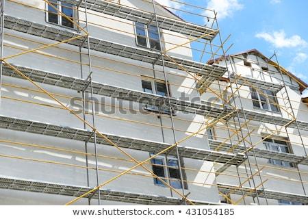scaffold at a house facade Stock photo © meinzahn