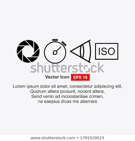 Cámara obturador icono gris película fondo Foto stock © m_pavlov