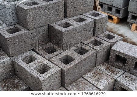 Cement tömbházak egymásra pakolva használt közlekedés disztribúció Stock fotó © juniart