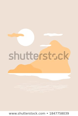 Stock photo: hills and clouds