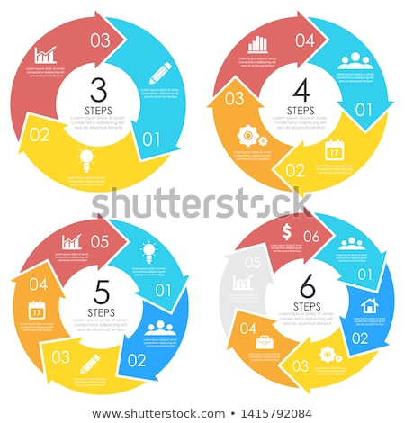 Stock photo: Modern vector circle arrows for info graphic