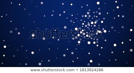 mooie · Blauw · zilver · geschenk · winter · vakantie - stockfoto © hipatia