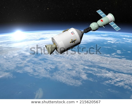 Apollo-Soyuz test project - 3D render Stock photo © Elenarts