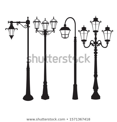 Street and garden old style lamps. Vector illustration Stock photo © leonido