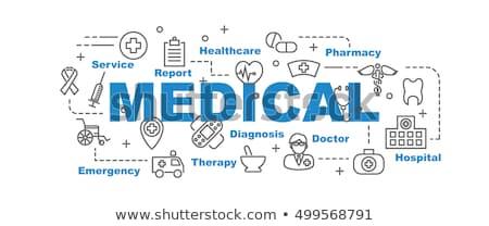 Capsule gezondheidszorg medische gezondheid geneeskunde Blauw Stockfoto © fenton