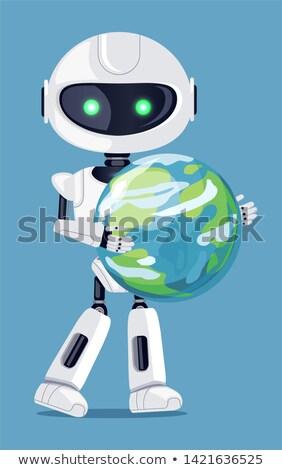 robot · el · dünya · dijital · spor · dünya - stok fotoğraf © kirill_m