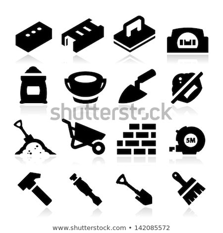 Alvenaria ferramentas balde trabalhar casa trabalhador Foto stock © justinb