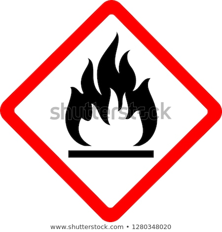 Flammable sign Stock photo © tilo