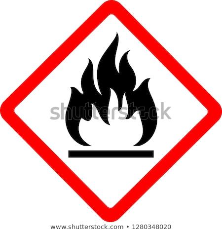 Flammable sign Stock photo © tilo