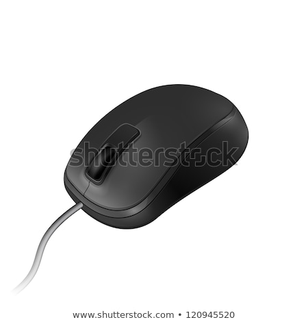 ストックフォト: 電子 · コレクション · ワイヤレス · オプティカル · 黒 · コンピューターのマウス